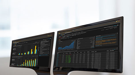 Eikon commodity trading terminal screens